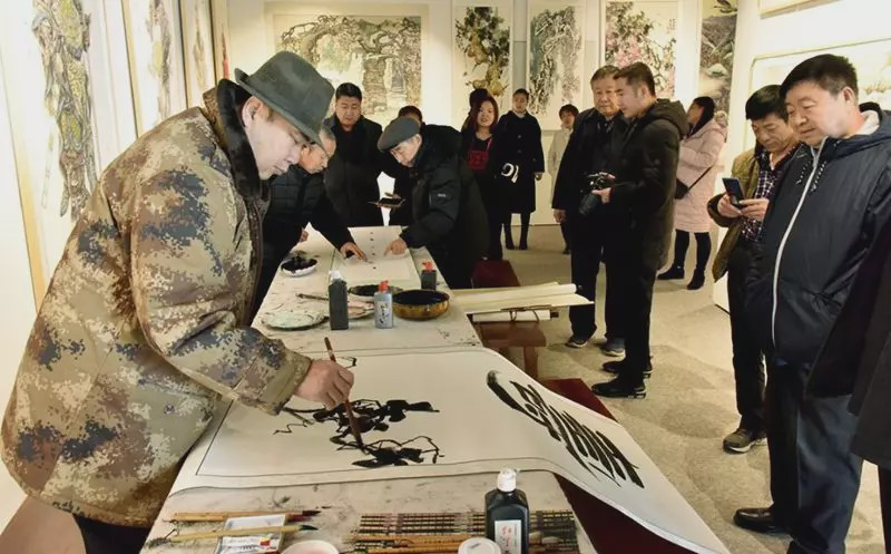 廊坊市固安工业园举办2020新春社区文化艺术书画展活动